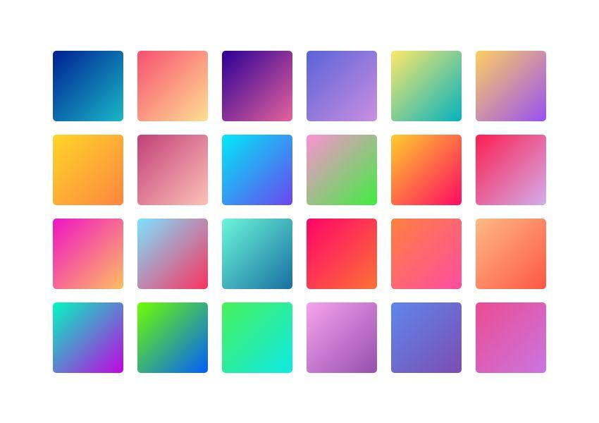 Graphics Design Trends 2020: Color Gradient